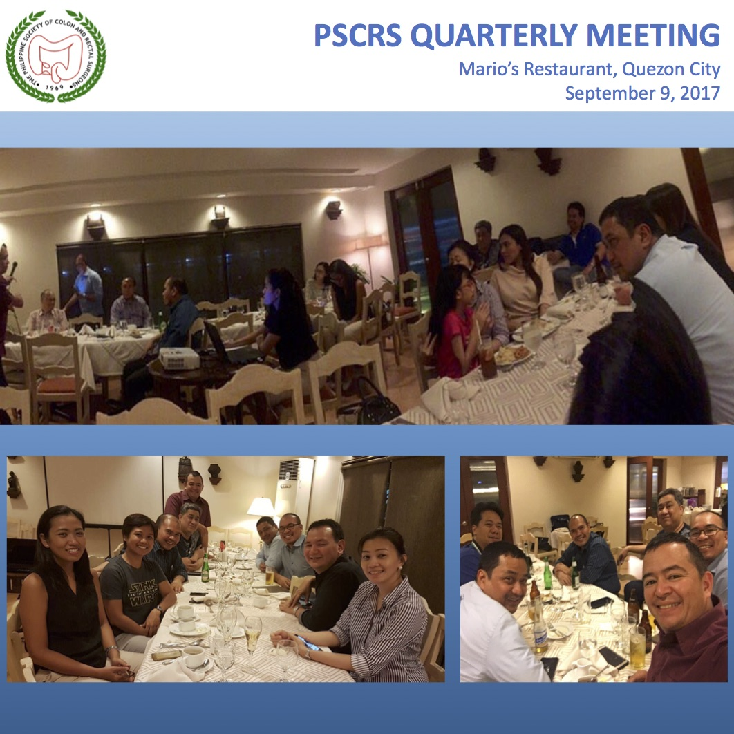 PSCRS QUARTERLY MEETING 2017