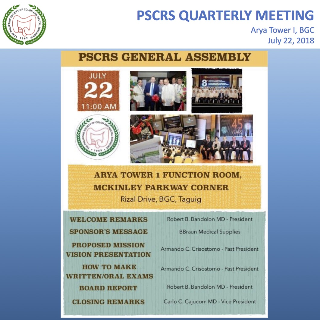 PSCRS QUARTERLY MEETING 2018